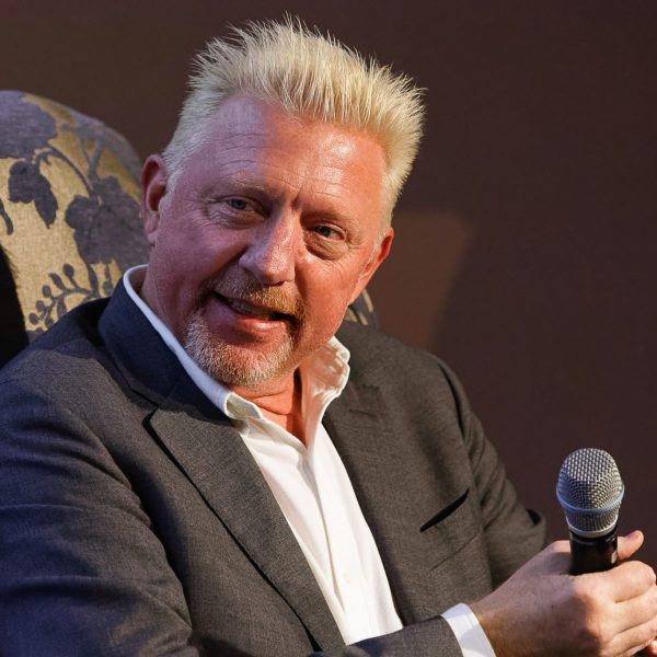 The tennis star Boris Becker in Gotha